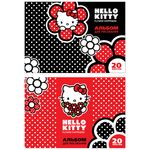 Альбом для рисования ACTION! HELLO KITTY, 20 л., на склейке, выб.уф-лак, 2 дизайна, HKO-AA-20g